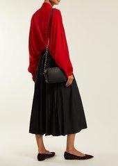Valentino Pleated silk blouse