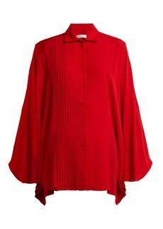 Valentino Pleated silk blouse