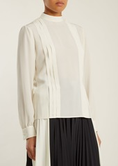 Valentino Pleated silk crepe de Chine blouse