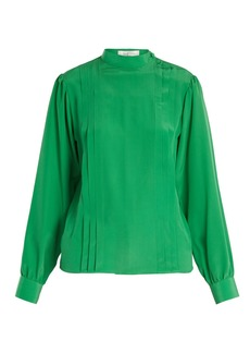 Valentino Pleated silk crepe de Chine blouse