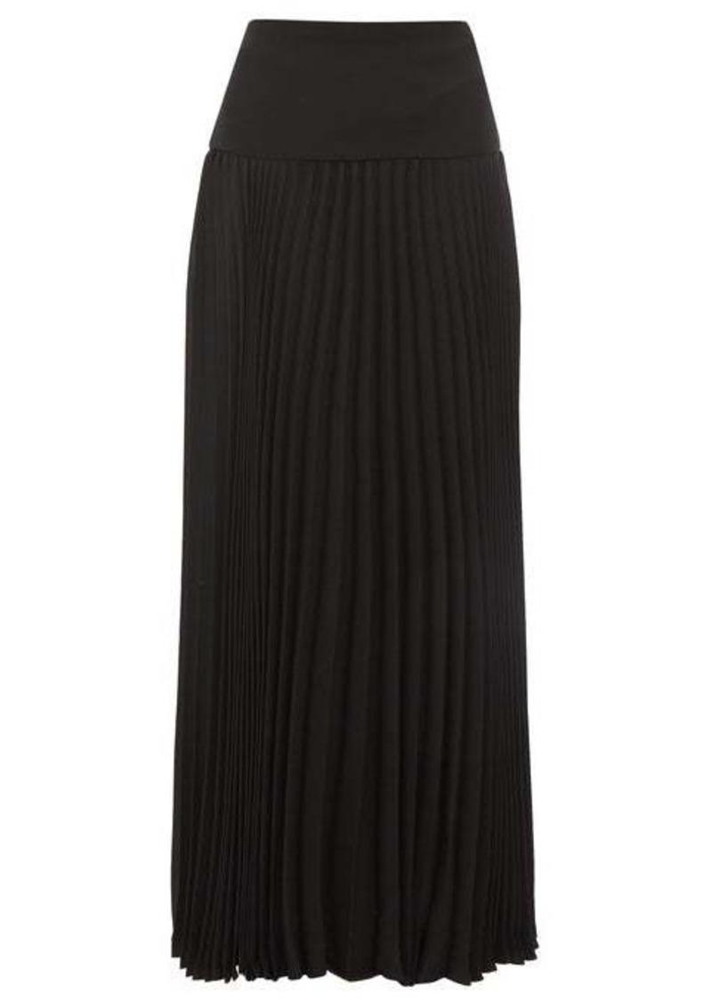 Valentino Pleated silk-crepe skirt