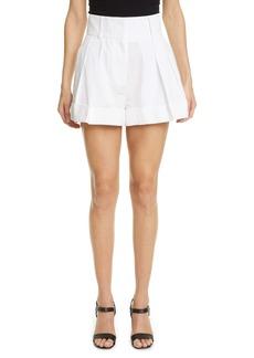 Valentino Pleated Taffeta Shorts