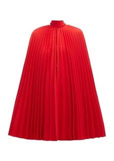 Valentino Pleated virgin-wool cape