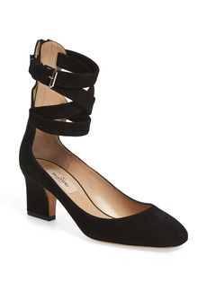 Valentino Plum Ankle Strap Pump (Women)