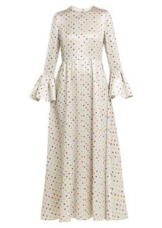 Valentino Polka-dot print crepe dress