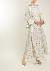 Valentino Polka-dot print crepe dress