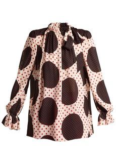 Valentino Polka dot-print silk blouse