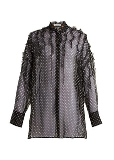 Valentino Polka-dot print silk-chiffon blouse