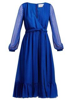Valentino Polka-dot silk-blend dress