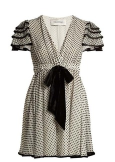 Valentino Polka-dot silk-georgette dress
