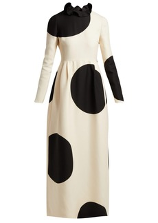 Valentino Polka-dot wool-blend dress