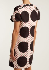 Valentino Polka-dot wool-silk crepe dress