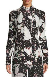 Pop Butterflies Silk Pajama Shirt