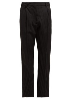 Valentino Pressed wool-blend tailored trousers