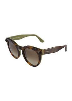 Valentino Printed Round Sunglasses