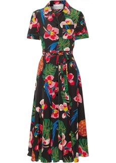 Valentino Printed silk crepe de chine shirt dress