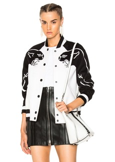 Valentino Printed Sleeve Bomber Jacket