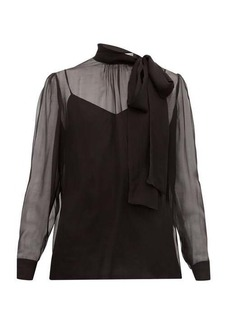 Valentino Pussy-bow chiffon blouse