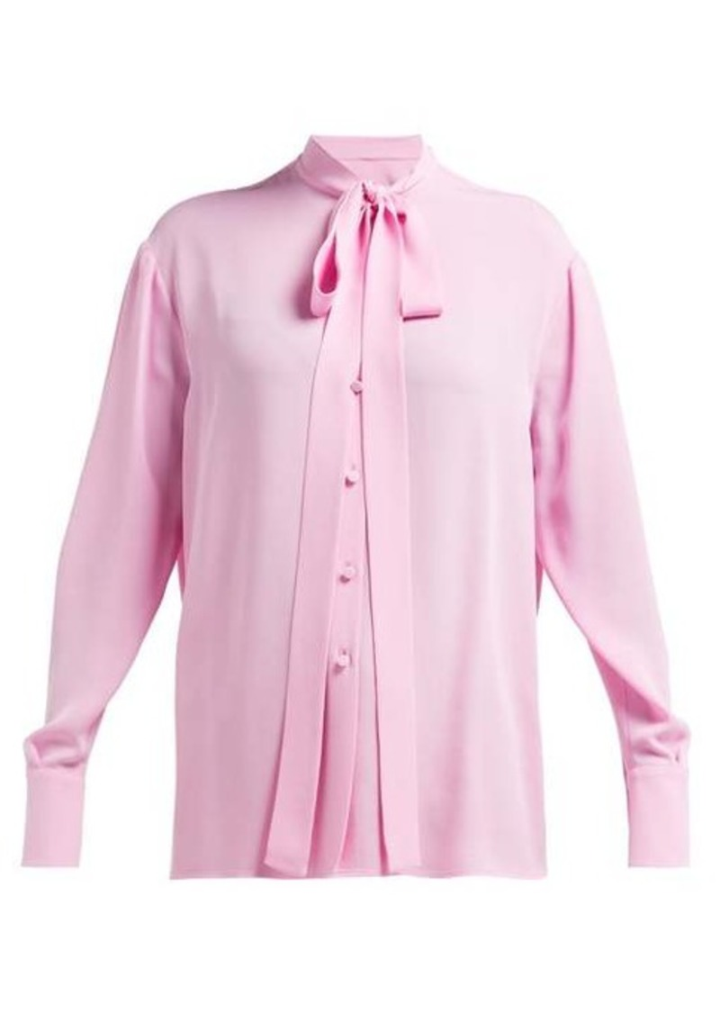 Valentino Pussybow silk-georgette blouse