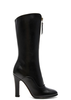 Valentino Leather Rebelle 100MM Boots
