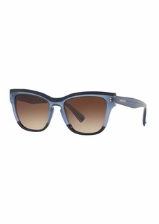 Valentino Rectangle Monochromatic Acetate Sunglasses