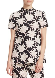 Valentino Rhododendron Floral-Print Top