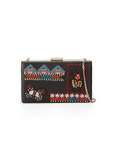 Valentino Garavani Ricamo Beaded Leather Clutch Bag