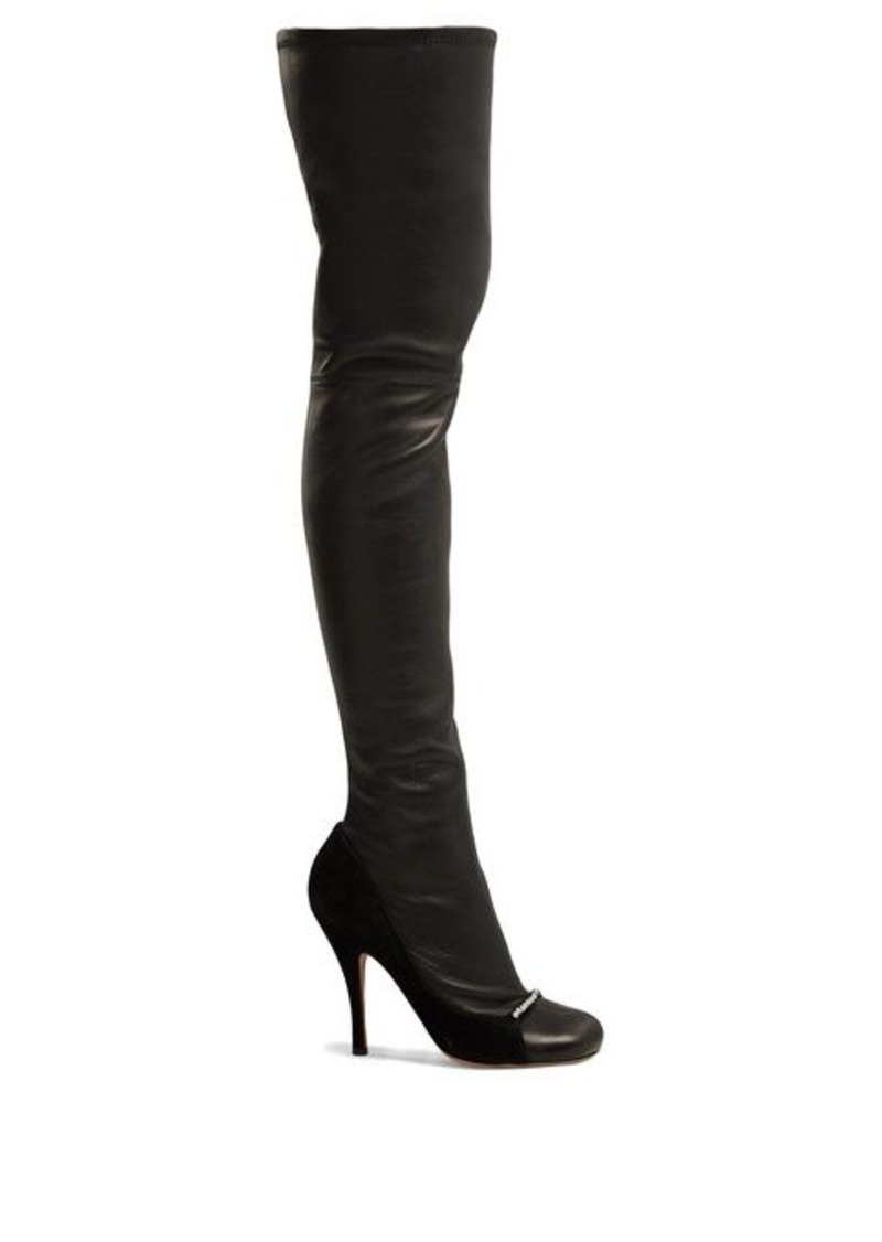Valentino Ring-Toes over-the-knee leather boots