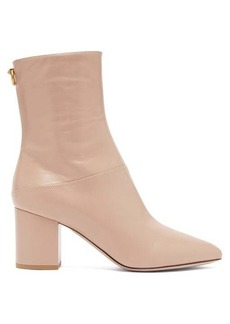 Valentino Ringstud point-toe leather ankle boots