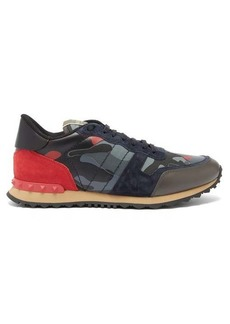 Valentino Rockrunner camouflage leather trainers
