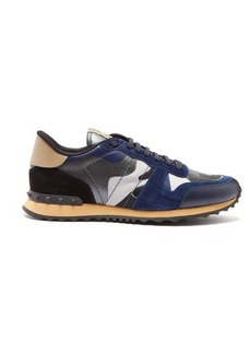 Valentino Rockrunner camouflage suede trainers