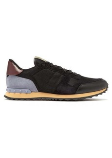 Valentino Rockrunner contrast-panel low-top trainers
