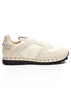 Valentino Rockrunner suede-panelled trainers