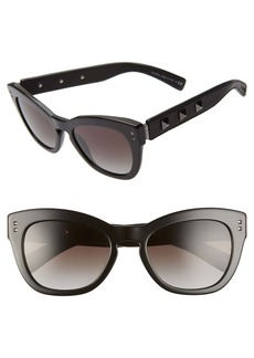 Valentino Rockstud 53mm Cat Eye Sunglasses