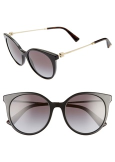 Valentino Rockstud 53mm Gradient Cat Eye Sunglasses
