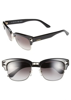 Valentino 'Rockstud' 53mm Sunglasses