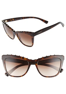 Valentino Rockstud 54mm Cat Eye Sunglasses