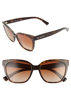 Valentino Rockstud 55mm Gradient Cat Eye Sunglasses