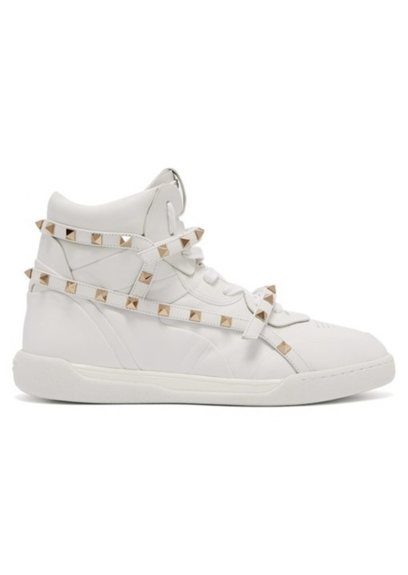 Valentino Rockstud Amor high-top leather trainers
