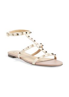 Valentino 'Rockstud' Ankle Strap Sandal (Women)