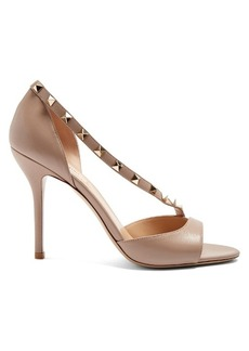 Valentino Rockstud asymmetric-strap leather sandals