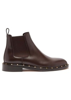 Valentino Rockstud Beatle leather chelsea boots