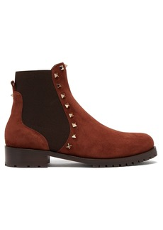 Valentino Rockstud Beatle suede chelsea boots