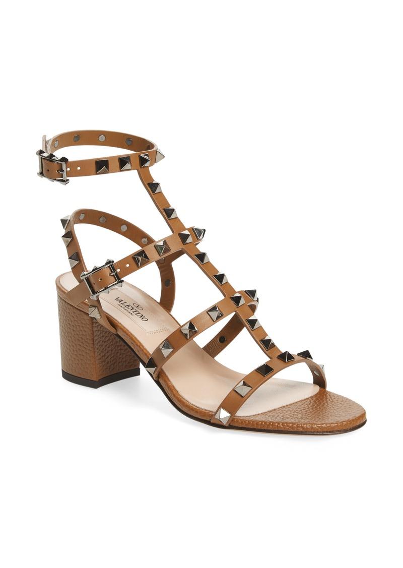 0b1b52d42a9 SALE! Valentino Valentino Rockstud Block Heel Sandal (Women)