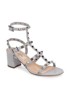 Valentino Rockstud Block Heel Sandal (Women)