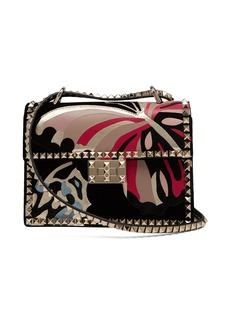 Valentino Rockstud butterfly-appliqué velvet cross-body bag