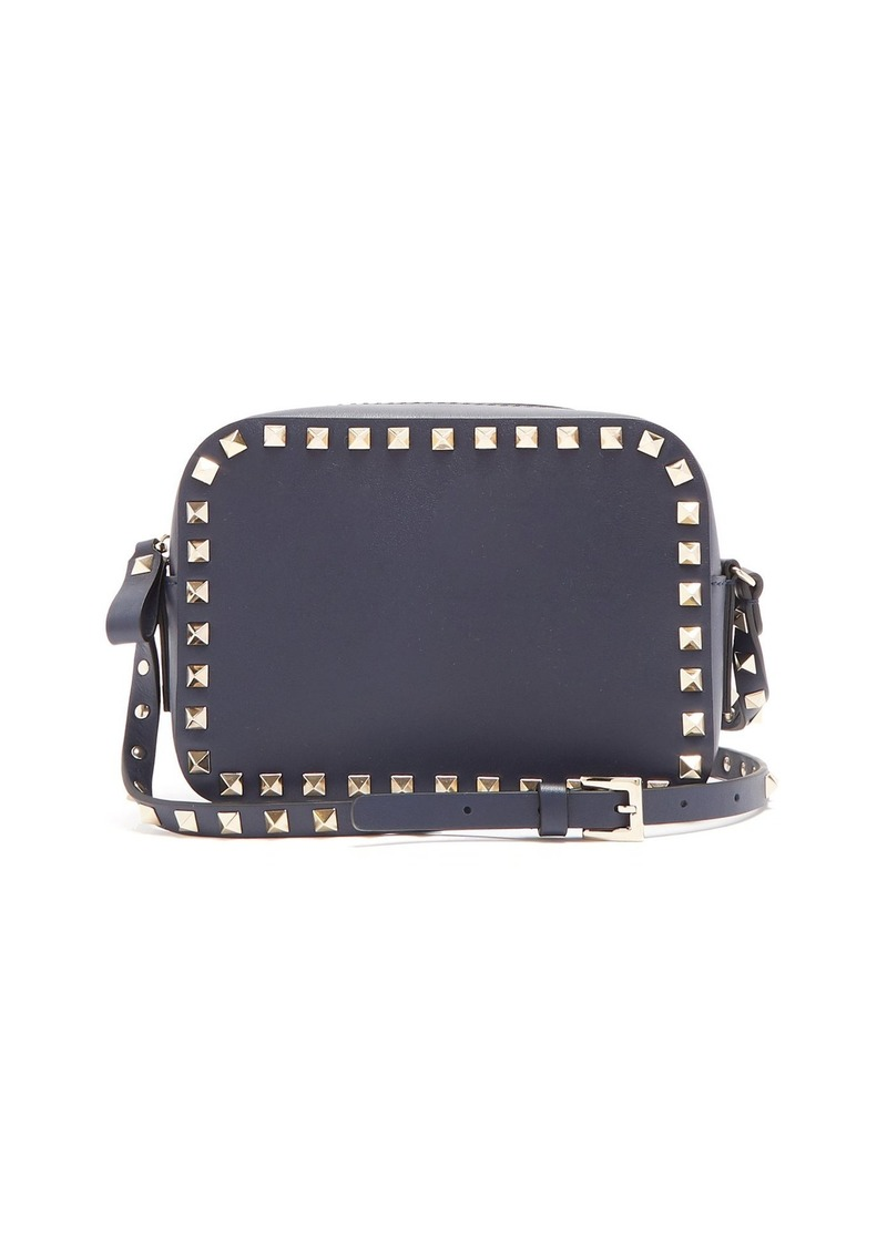undefeated x modern and elegant in fashion los angeles Rockstud camera leather cross-body bag