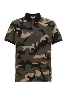 Valentino Rockstud camouflage cotton-piqué polo shirt