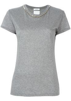 Valentino 'Rockstud' collar T-shirt - Grey