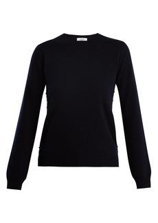 Valentino Rockstud crew-neck cashmere sweater